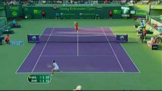 Serena Williams vs Jie Zheng 2009 Miami Highlights.