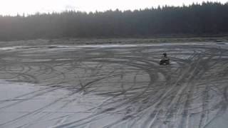 Quad farm bike sand dune jump!!! Honda 350