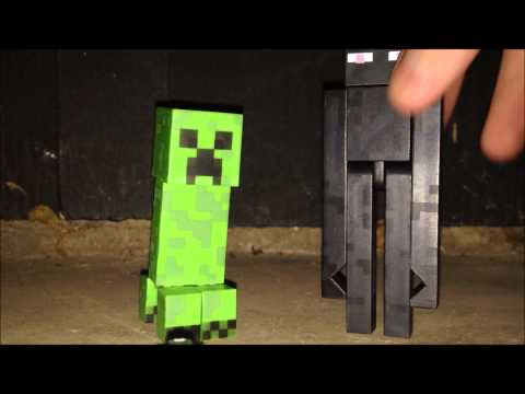 Minecraft Action Figure Reviews: Enderman and Creeper