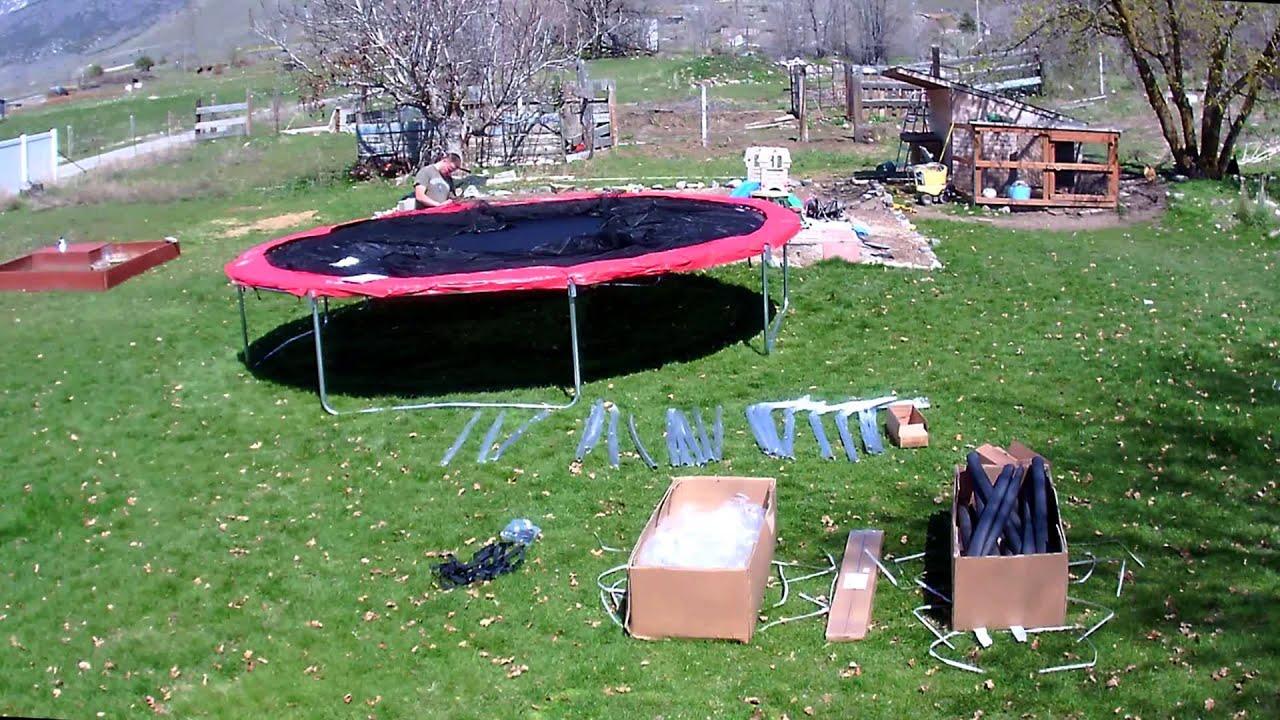 Skywalker 17x15 Ft Trampoline Set Up Youtube