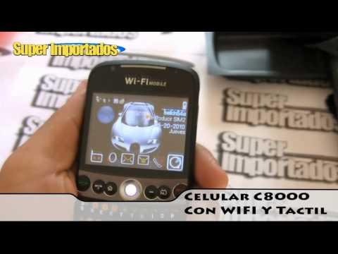 Celular C8000 WIFI. Touchscreen. Doble sim (dual). Tv. Mp3. Camara. WWW.SUPERIMPORTADOS.COM