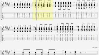 Silent Siren チェリボム ギター タブ guitar TAB