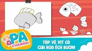 Game tập tô màu con vật cho bé | trò chơi màu sắc cho trẻ em | vịt cá cua rùa ếch bướm | PA Channel