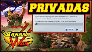 PARTIDAS PRIVADAS Europa, Costa este, Brasil Fortnite battle royale con subs Bananawuk (Manqueando)