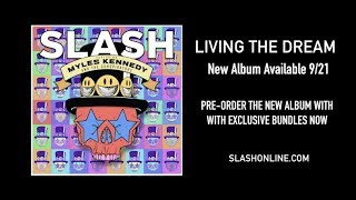 "Slash ft. Myles Kennedy & The Conspirators - 新譜「Living The Dream」2018年9月21日発売予定 Pre-order Videoと""Driving Rain""のStatic Videoを公開 thm Music info Clip"