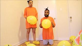 Ethiopian couple BALLOON CHALLENGE