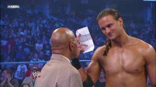 Drew McIntyre addresses General Manager Teddy Long