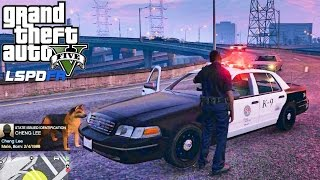 GTA 5 PC MODS - LSPDFR - POLICE SIMULATOR - EP 8 (NO COMMENTARY) K9 JERRY LEE