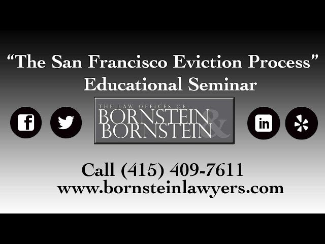 Learn about the SF Eviction Process + Unlawful Detainer Actions