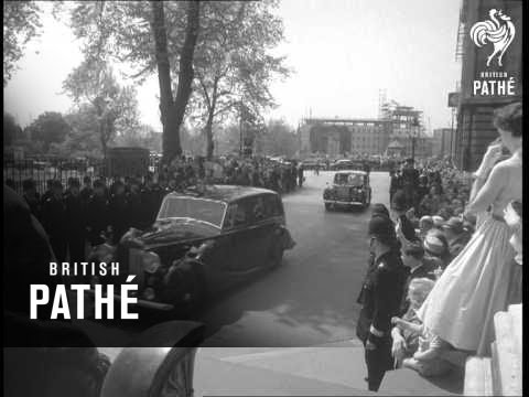 Queen And Duke Visit Port Of London Authority, Pla Building (1959)
