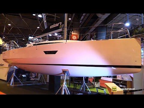 2017 Elan S3 Sailing Yacht - Deck, Hull and Interior Walkaround - 2016 Salon Nautique Paris