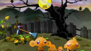 Прохождение игры счастливая обезьянка хэллоуин