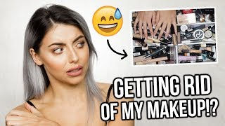 MAKEUP COLLECTION + DECLUTTER! PRIMERS, FOUNDATIONS + CONCEALERS!