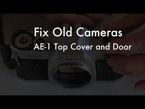 Fix Old Cameras: AE-1 Top Cover Removal / Battery Door Replacement