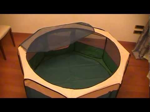 Манеж для щенков видео