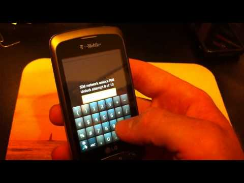 How to Unlock your T-mobile LG Optimus T cell phone