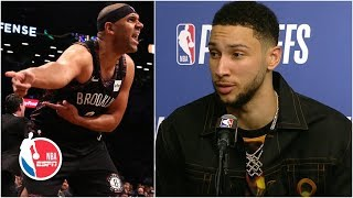 Ben Simmons on Jared Dudley: 'I don't really have energy for it, man' | 2019 NBA Playoffs