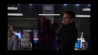 Arrow Oliver and Ray high five