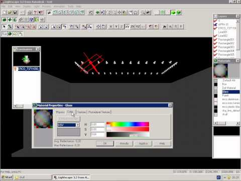 Autodesk Lightscape tutorial 01