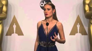 Room: Brie Larson (Best Lead Actress) Oscars Backstage Interview (2016)