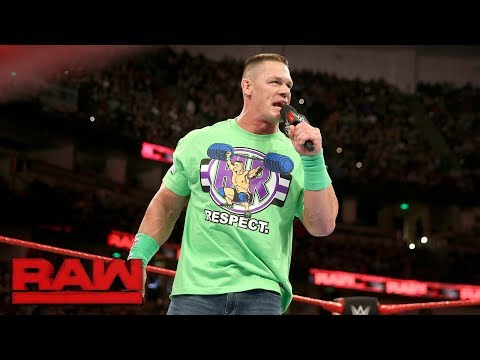 John Cena addresses dream match against The Undertaker at WrestleMania: Raw, Feb. 26, 2018 thumbnail