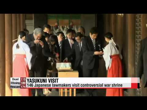 Korean gov't strongly criticizes Japanese lawmakers visit to Yasukuni shrine
