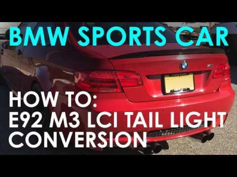 retrofitting lci led tail lights on a bmw e93 how to