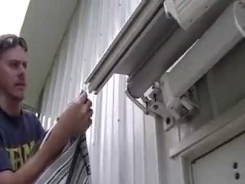 How To Replace And Install Retractable Patio Awning Fabric