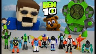 BEN 10 - EVERY Alien CREATION CHAMBER Figure! with FNAF PLUSH FREDDY!