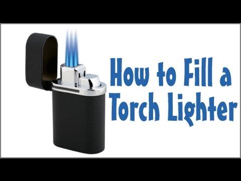 How to Fill A Torch Lighter With Butane - BoredParacord