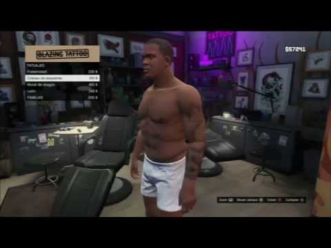 GTA V Hairstyle, Tattoo and Mask. Peinados, tatuajes y máscaras.