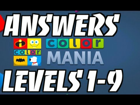 COLORMANIA: Answers Level 1 to Level 9 - Gameplay & Review (iPhone, iPad, iOS, Android)