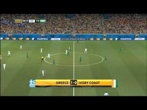 Greece Ivory Coast 2014 World Cup Full Game BBC