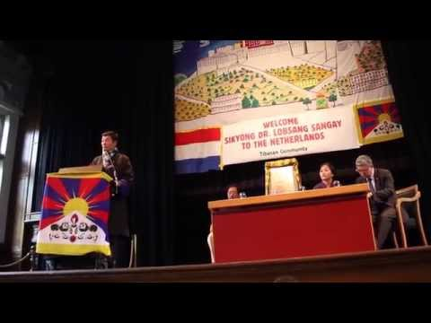 Sikyong Dr. Lobsang Sangay in Amsterdam, the Netherlands