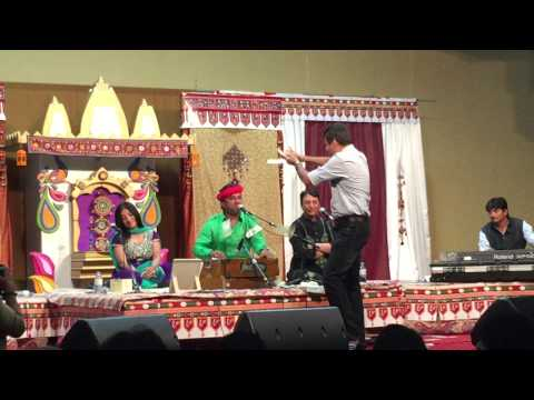 Kirtidan Gadhvi Star singer of Gujarat India performing at Toronto Canada. 20 June 2015