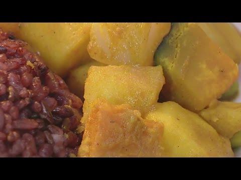 現代心素派-20150331 小廚師廚房 - 南瓜咖哩佐花青米飯