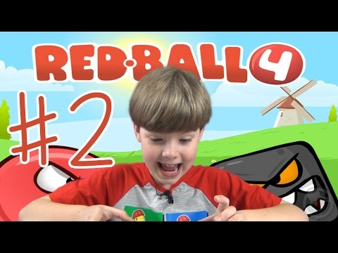 Playing Red Ball 4 (Part 2) - BOSS FIGHT!! (iPad/iOS/Tablet Gameplay Video) (KID GAMING)