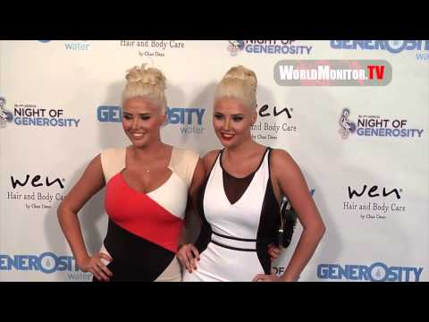 Karissa Shannon, Kristina Shannon arrive at 2013 Night Of Generosity Charity Benefit