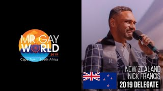 Mr Gay World 2019 Delegate - NEW ZEALAND