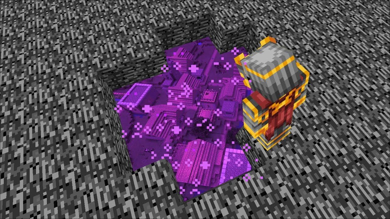 DISCOVERING A VILLAGE UNDER THE VOID IN MINECRAFT !! Minecraft Mods