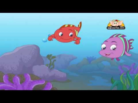 Panchatantra Tales in Hindi - A Tale of Three Fish