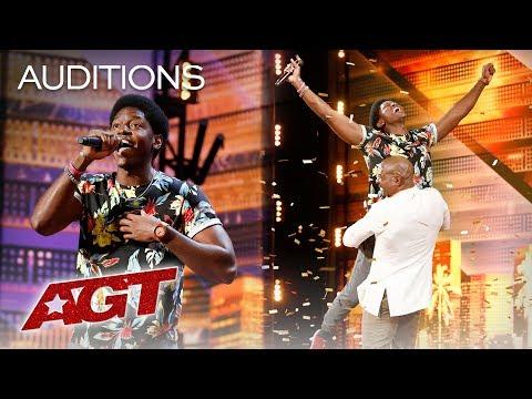 Golden Buzzer: Joseph Allen Leaves Exciting Footprint With Original Song - America's Got Talent 2019