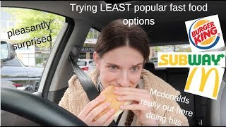 Trying the LEAST POPULAR orders at fast food resturaunts