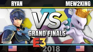 Ryan (Marth) vs. Mew2King (Mewtwo) - E3 2018 For Glory Competition - Grand Finals