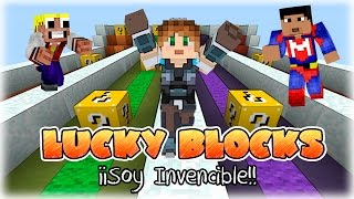 SOY INVENCIBLE!! :D | Lucky Blocks c/ Elyas360 y Magoangel | Minecraft | Lady Boss