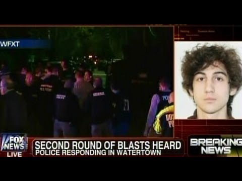 Eyewitness Videos of Gunfire - Boston Bombing - Suspect Two - Watertown, Mass - April 19, 2013