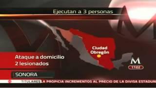 Sicarios Ejecutan A 3 Hieren A 2 En Ciudad Obregon Sonora 23marzo2013