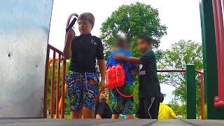 Kids find GUN at park (Social Experiment) - Children with Guns