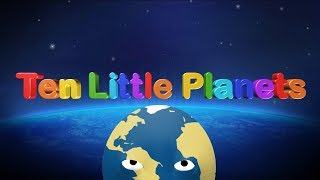 ✋ TEN Little Planets👋 Solar System | Counting 1-10 | Nursery Rhymes Songs for Kids