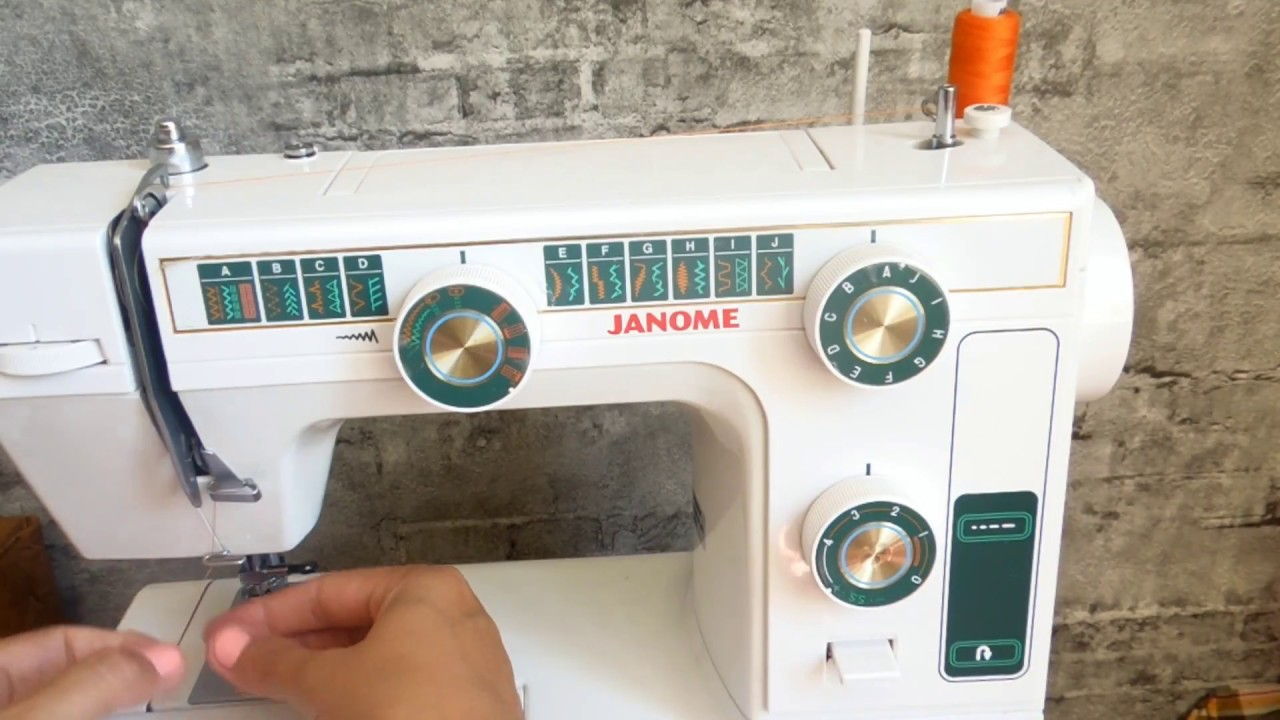 Регулировка швейной машинки джаноме своими руками 59